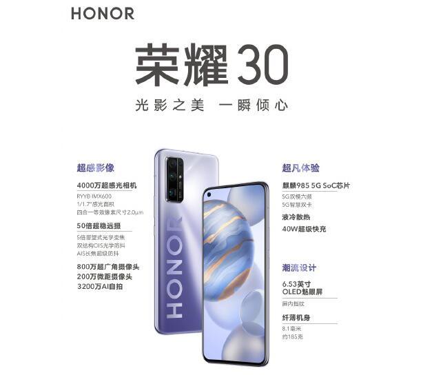 荣耀30和iQOO Neo3这两款手机哪个值得买